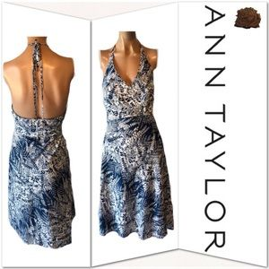 Ann Taylor Floral Halter Dress